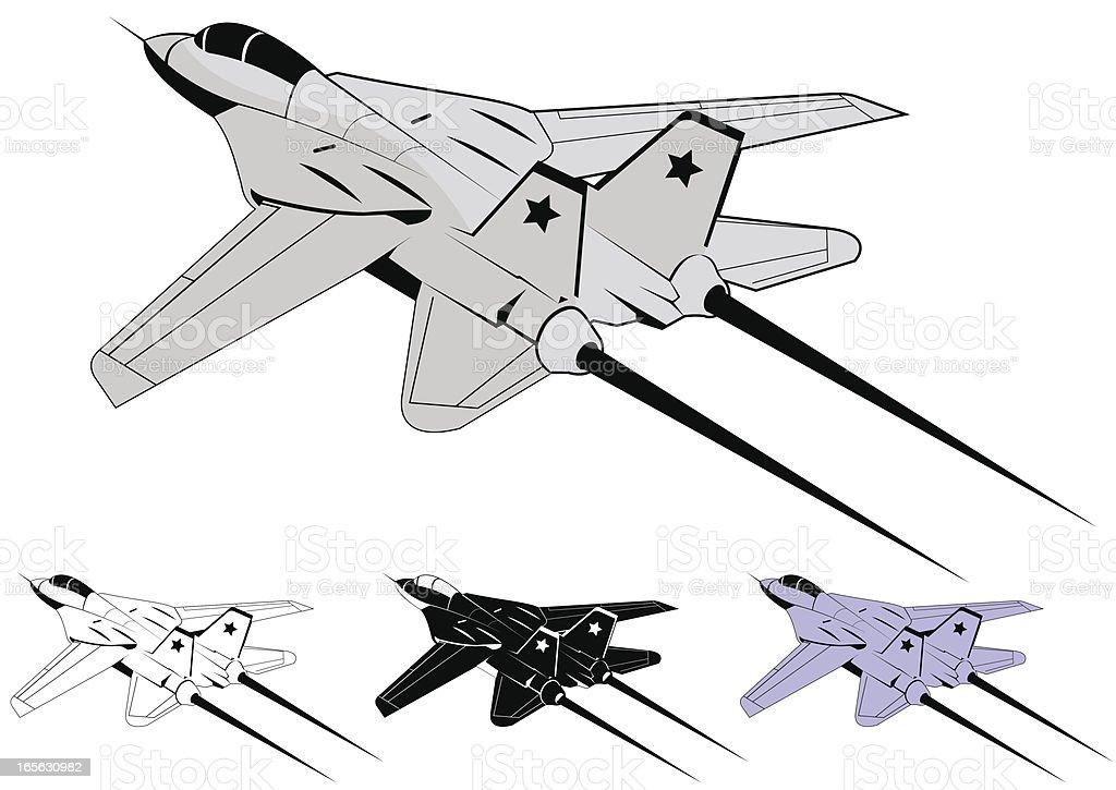 F-14 Tomcat royalty-free stock vector art