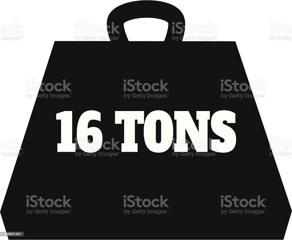 16 Ton Weight Icon vector art illustration