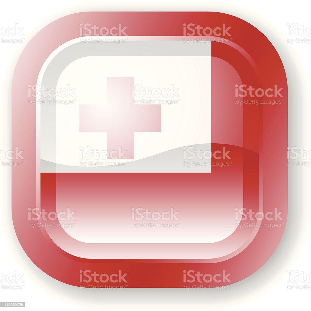 Tonga Flag Icon royalty-free stock vector art
