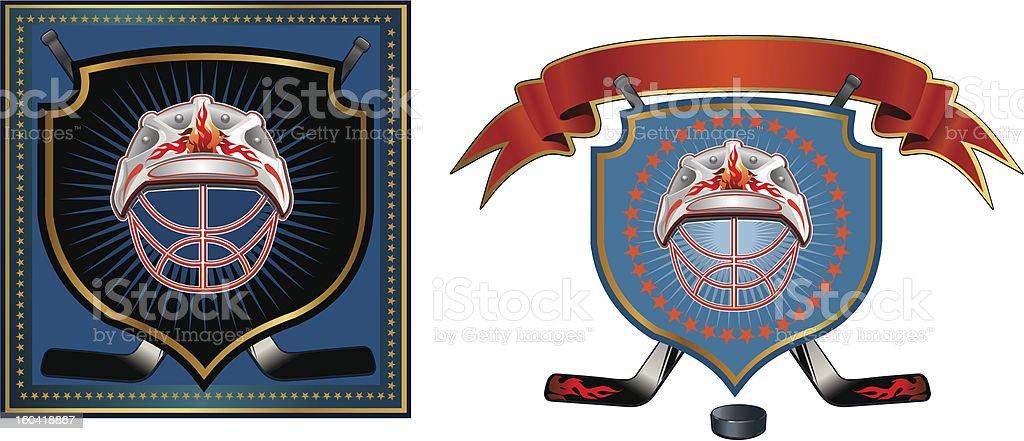 Too Hockey logo royalty-free stock vector art