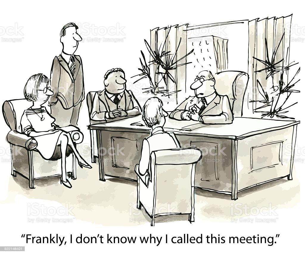 Too Many Meetings vector art illustration
