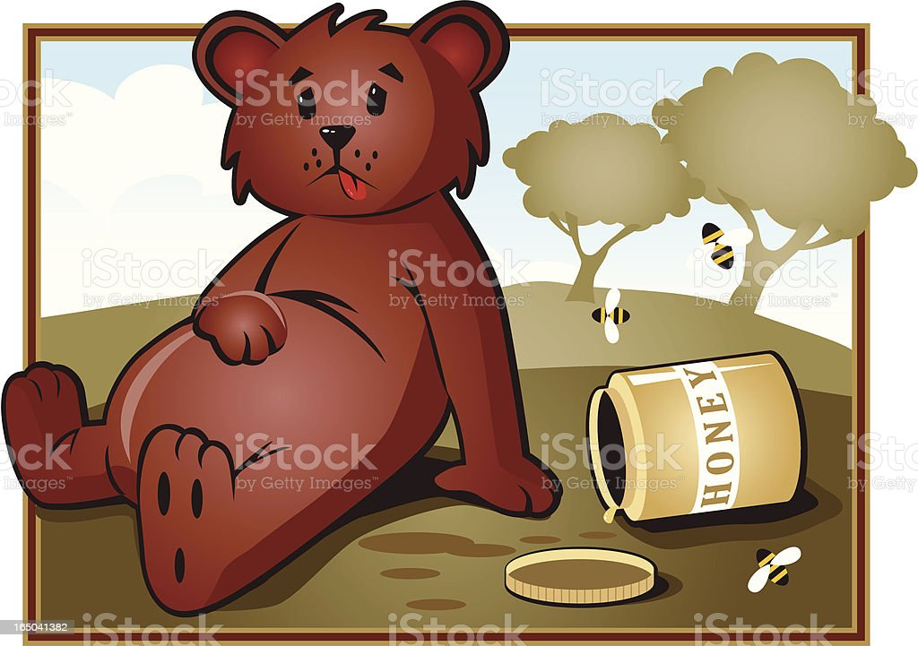 too much honey... royalty-free stock vector art