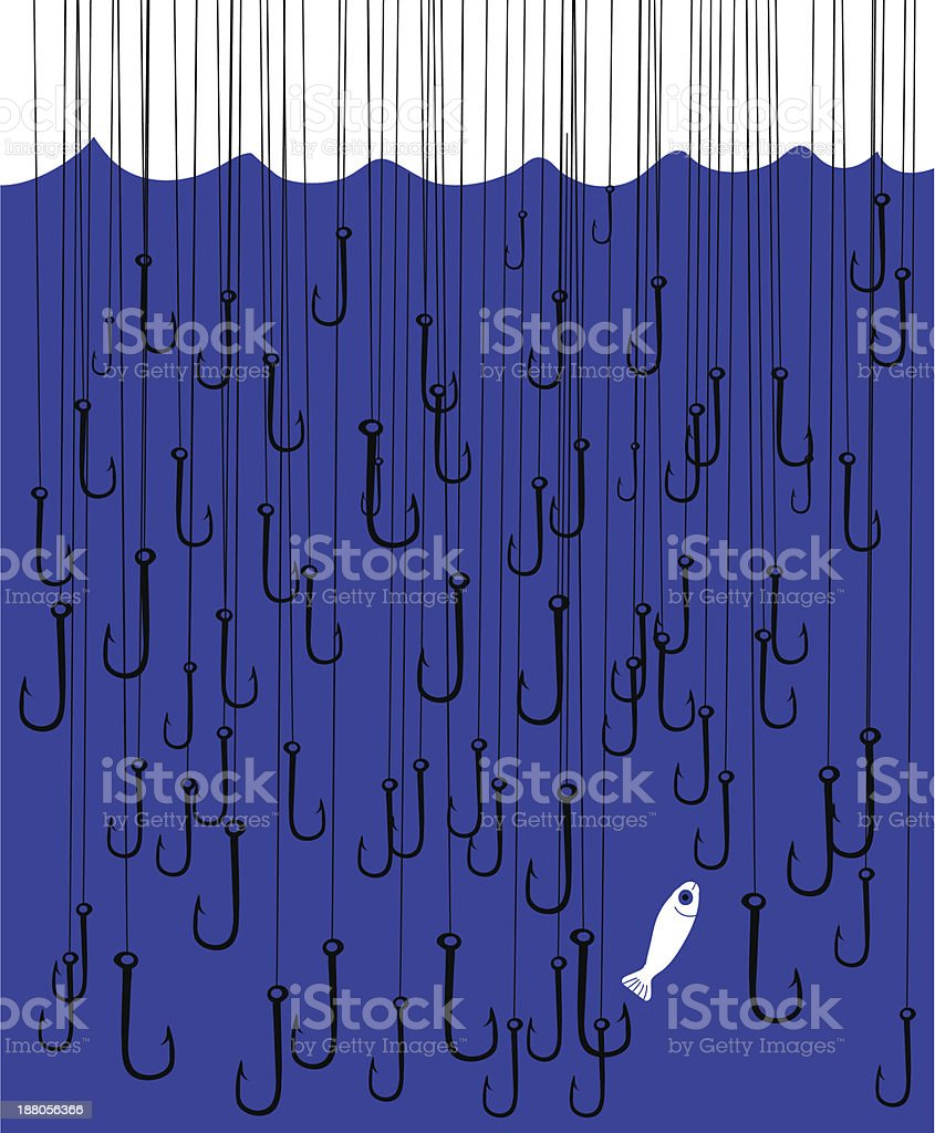 too much hooks royalty-free stock vector art