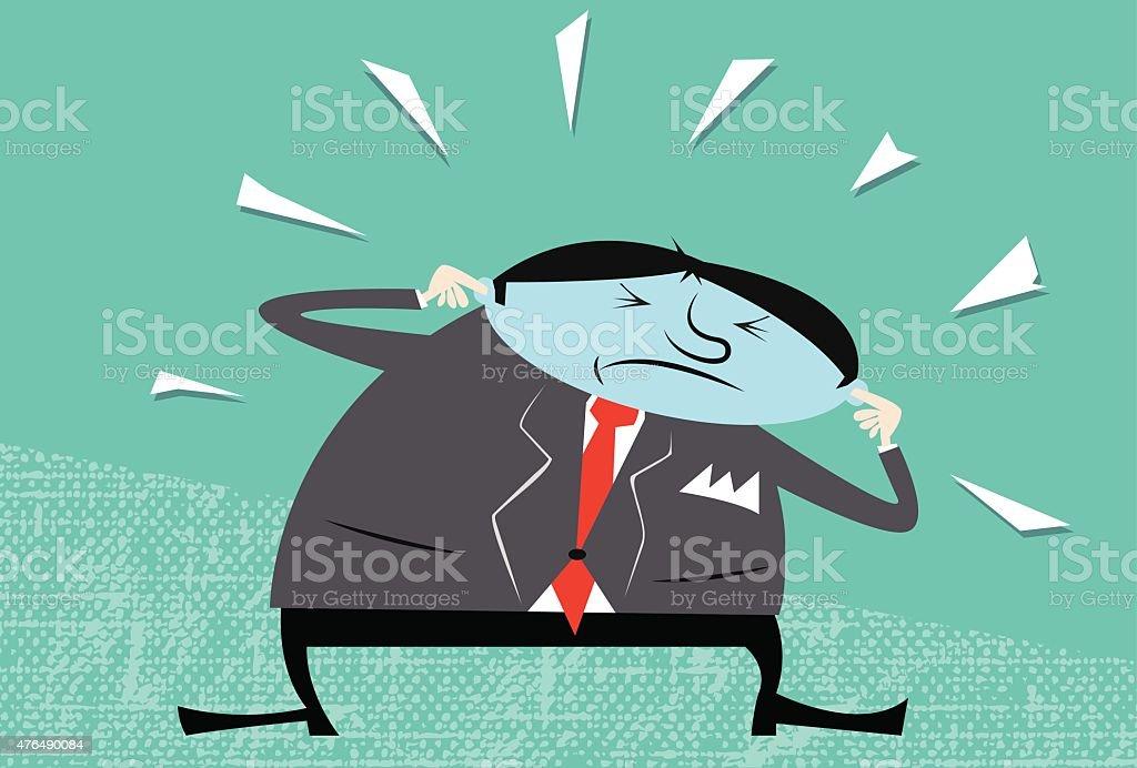Too much noise! vector art illustration