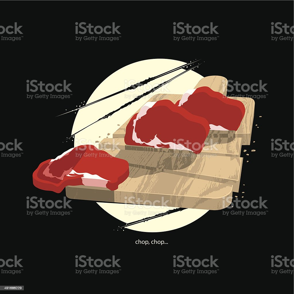 Too Sharp for Cutting Board royalty-free stock vector art