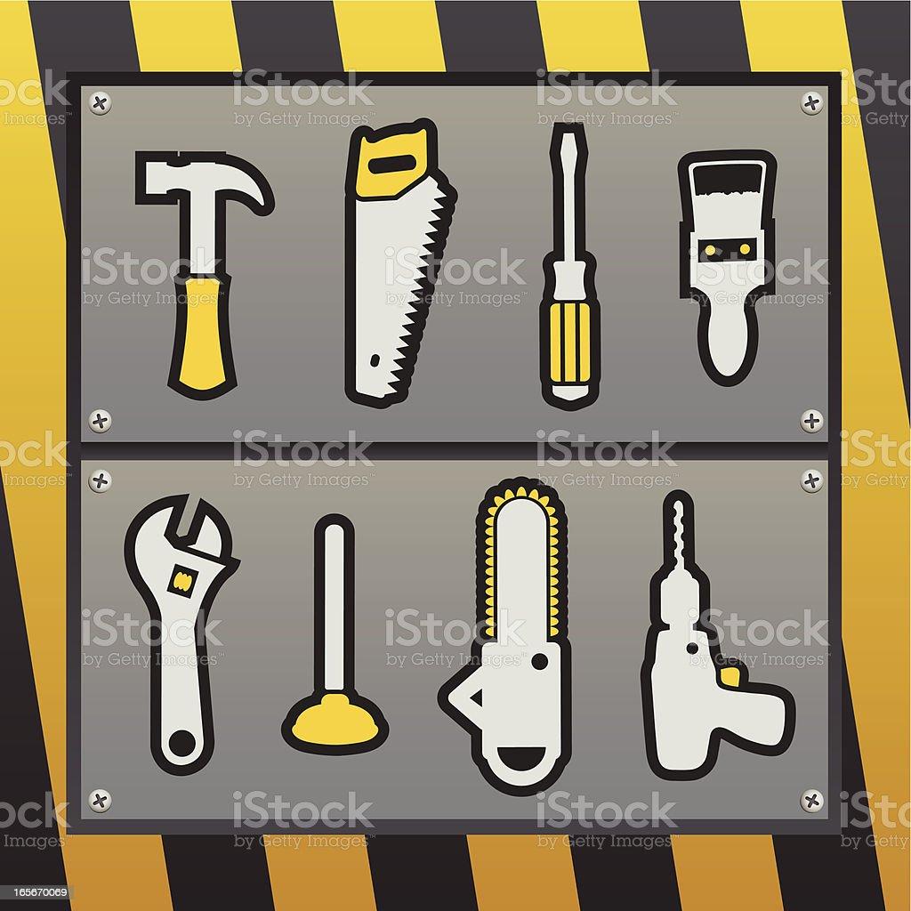 Tool Box Icon Set royalty-free stock vector art