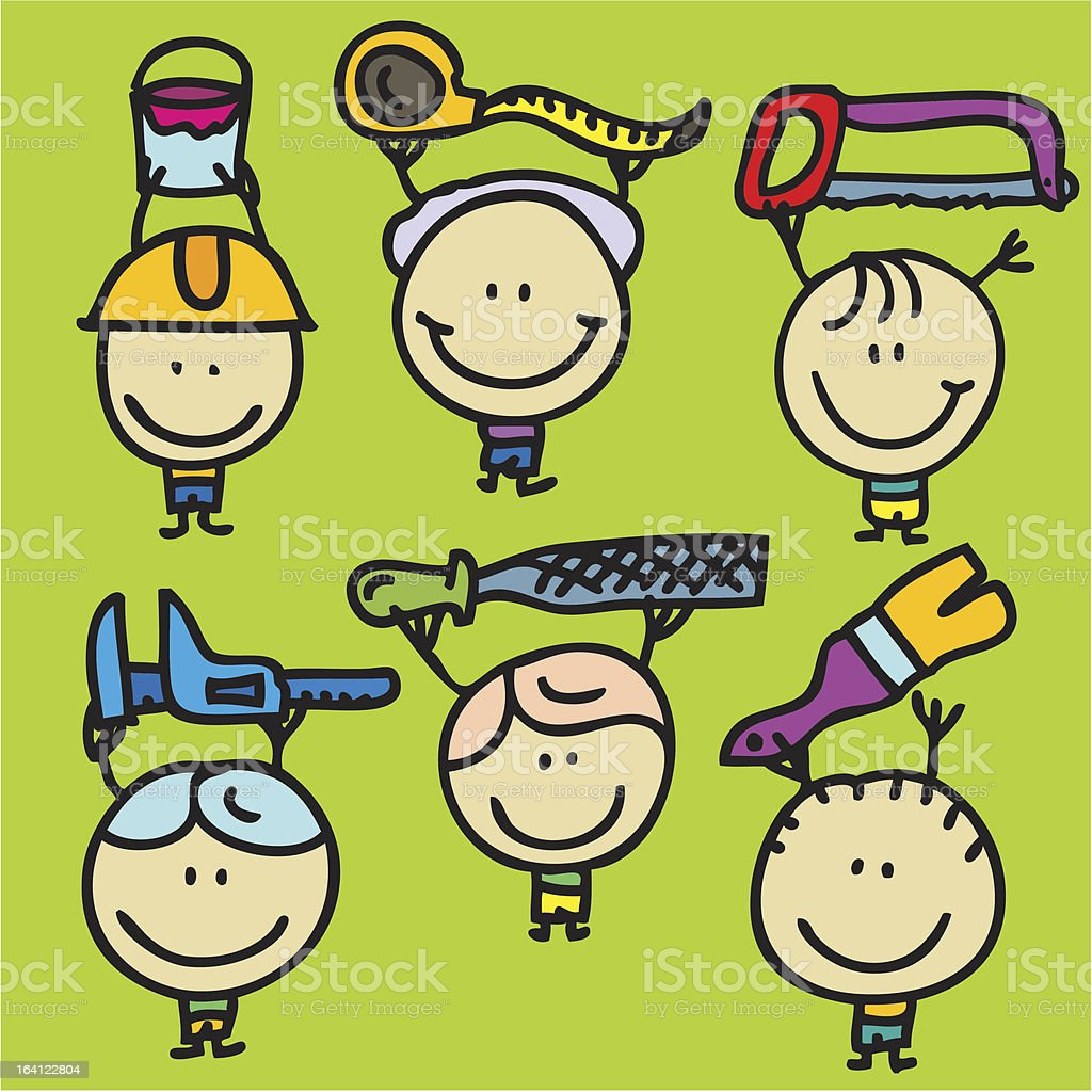Tool children royalty-free stock vector art