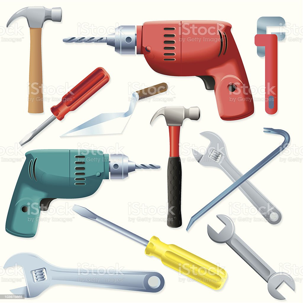 Tool Collection vector art illustration