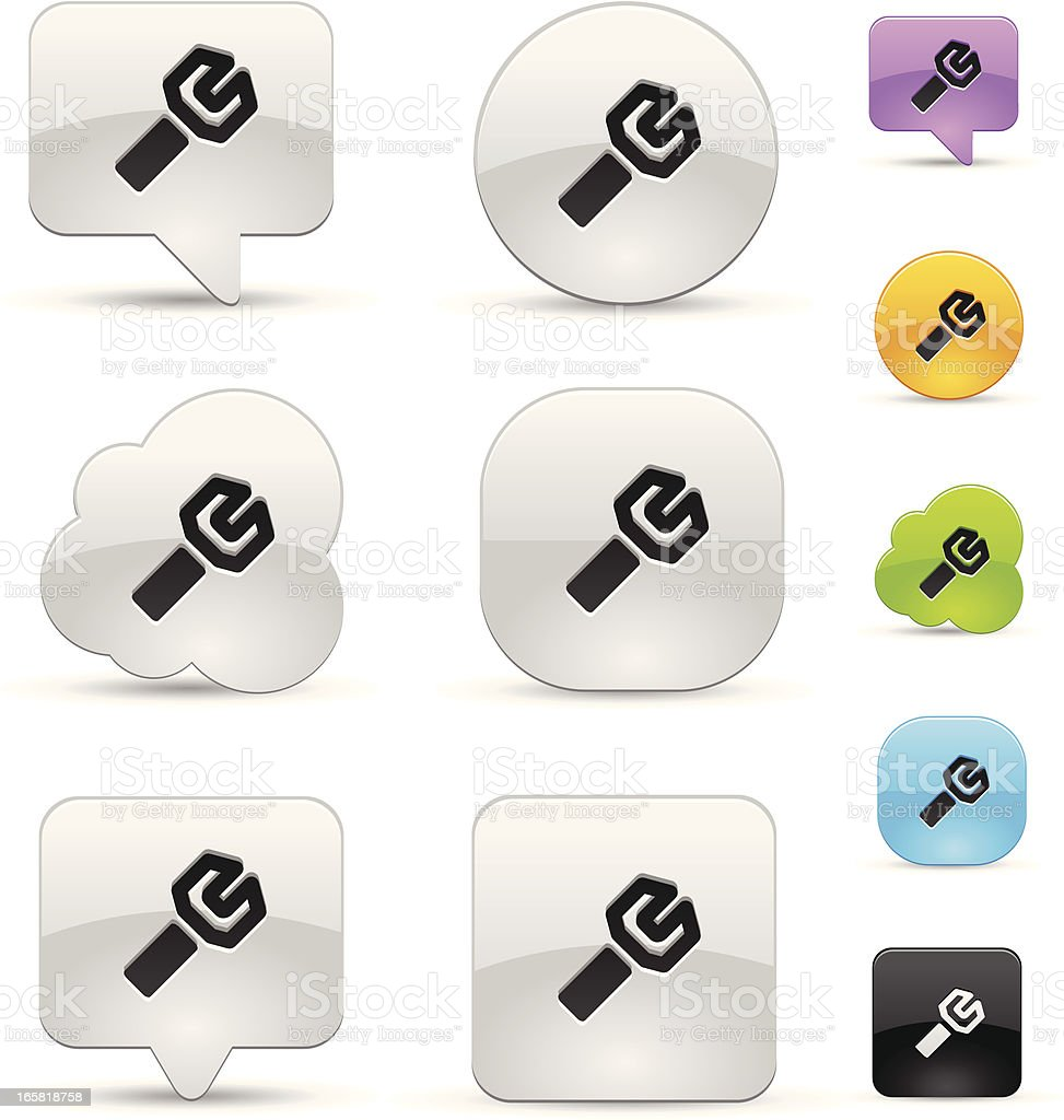 Tool icon set royalty-free stock vector art