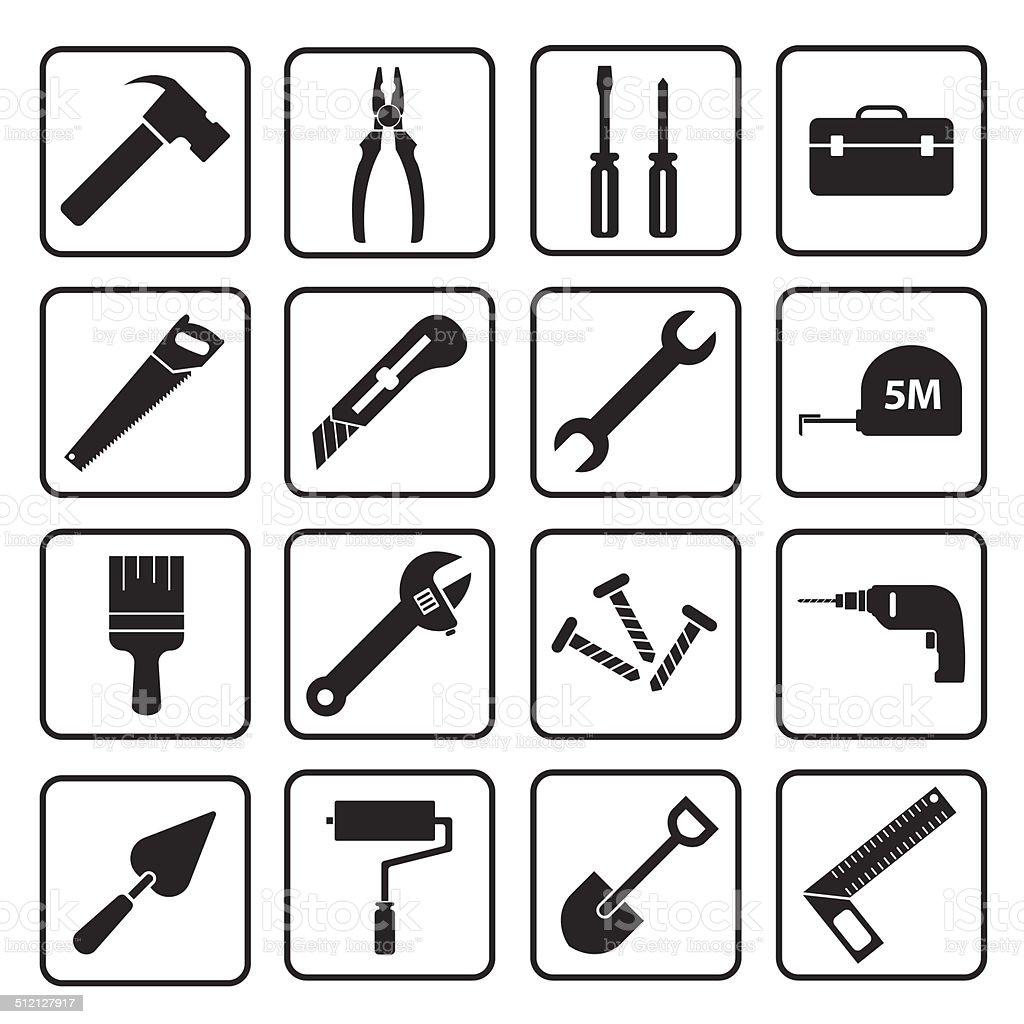 tool icon vector art illustration