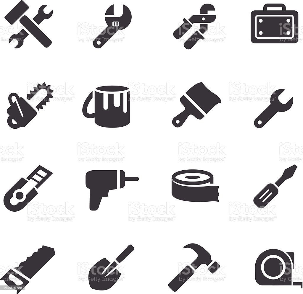 Tool Icons - Acme Series vector art illustration
