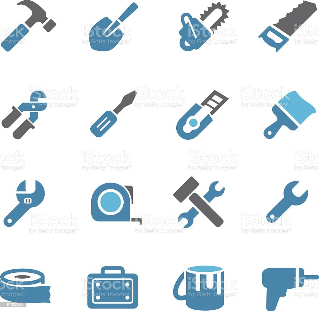 Tool Icons - Conc Series vector art illustration