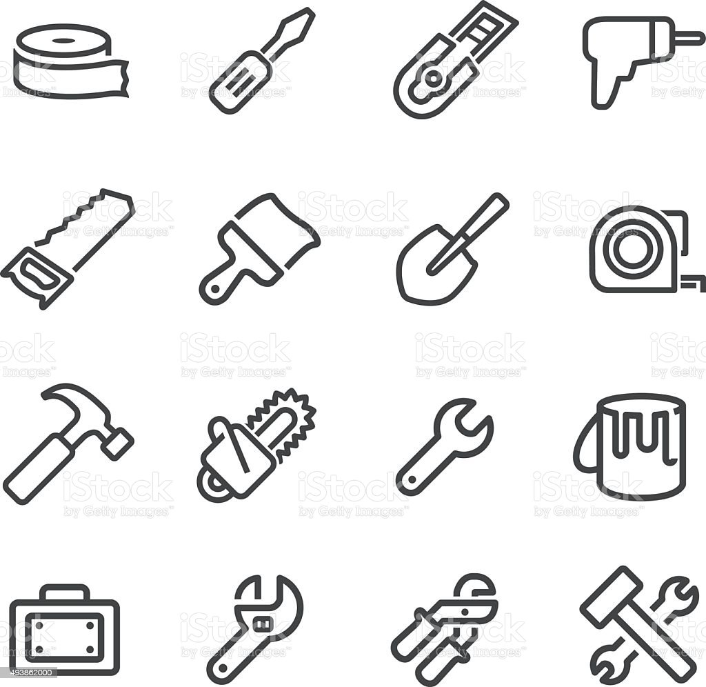 Tool Icons - Line Series vector art illustration