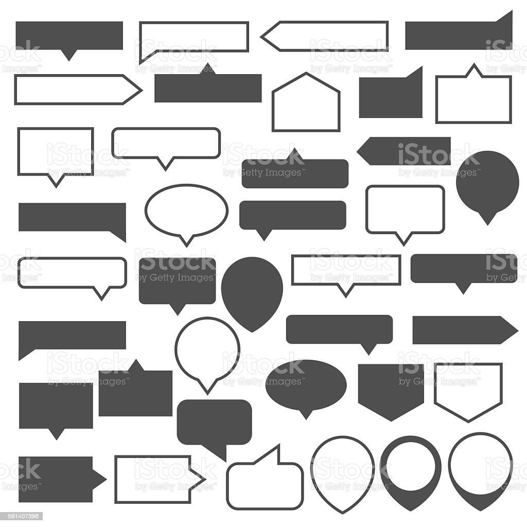 Tool Tip set vector art illustration