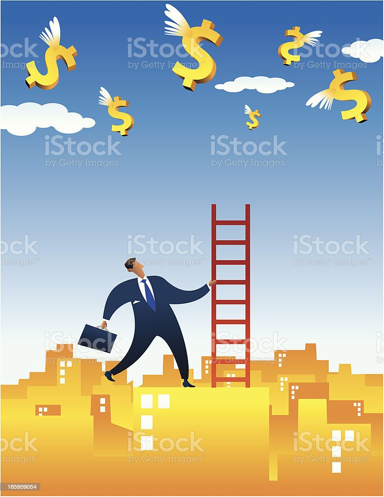 tool to get money vector art illustration