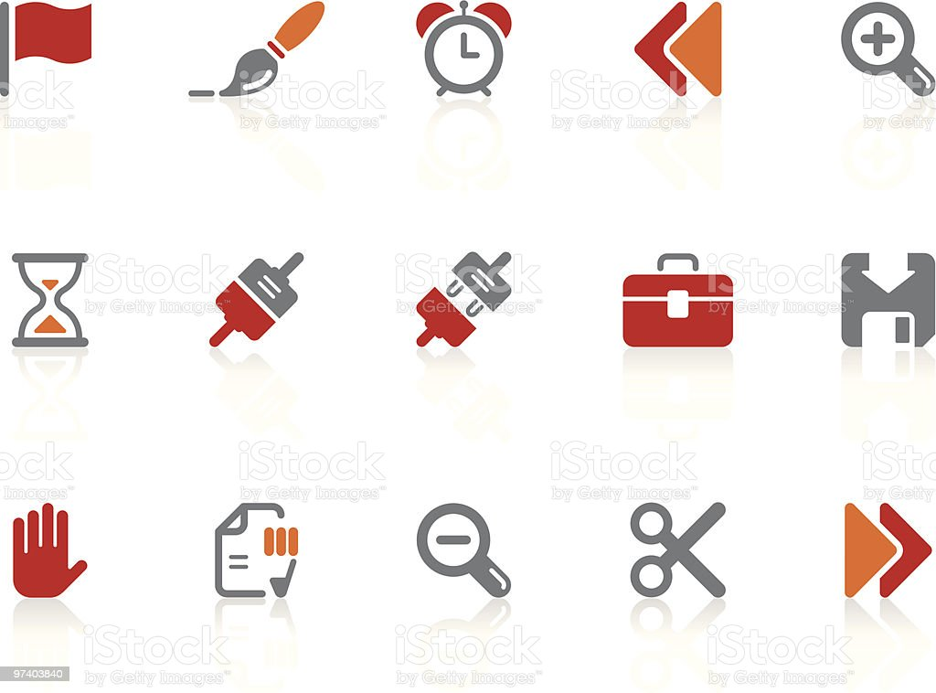 Toolbar and Interface icons | Alto series royalty-free stock vector art