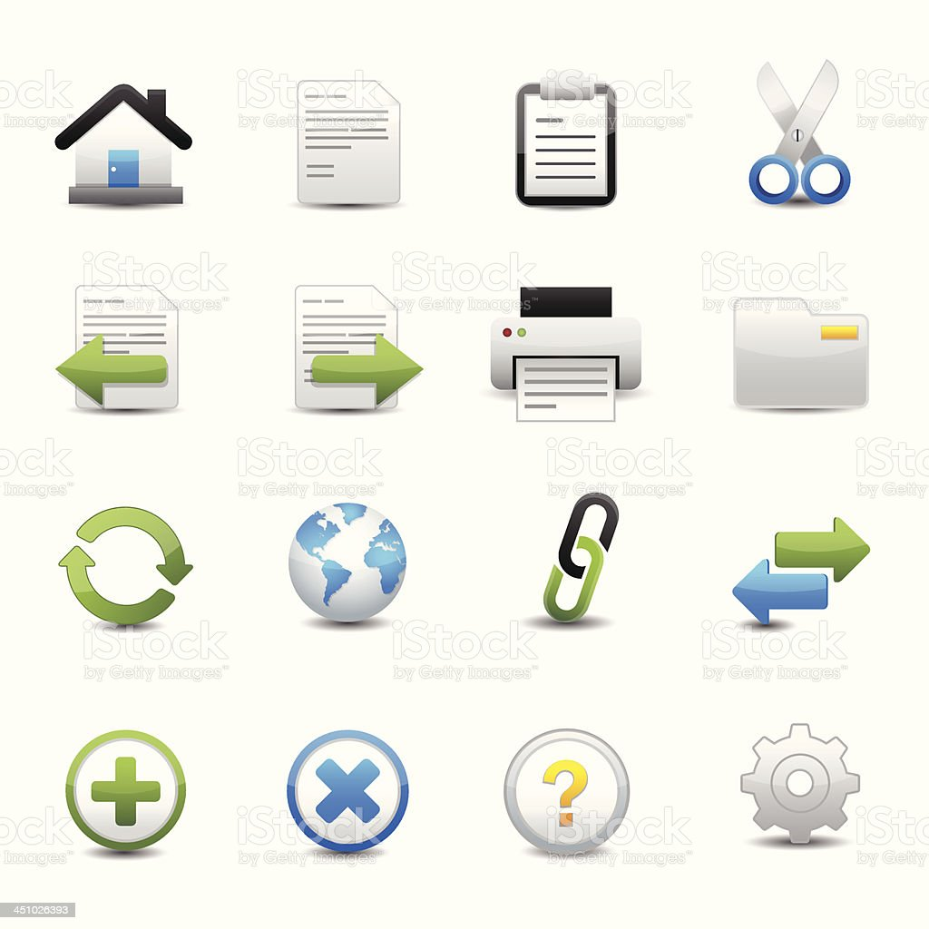 Toolbar and Website Icons royalty-free stock vector art