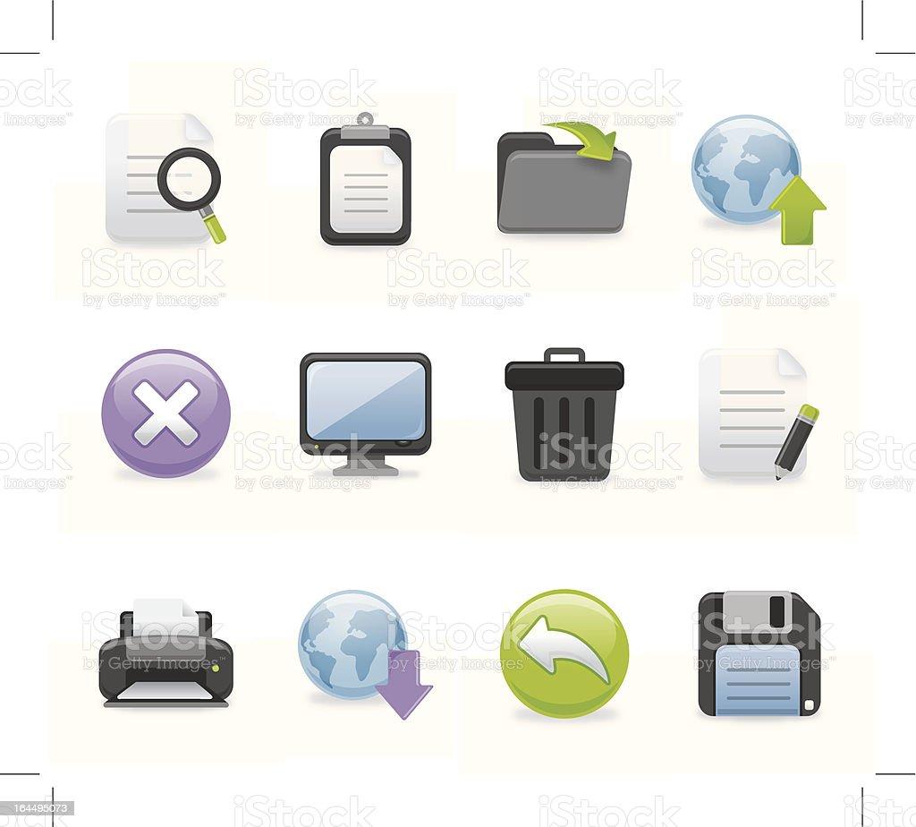 Toolbar Icons | Dark Series royalty-free stock vector art