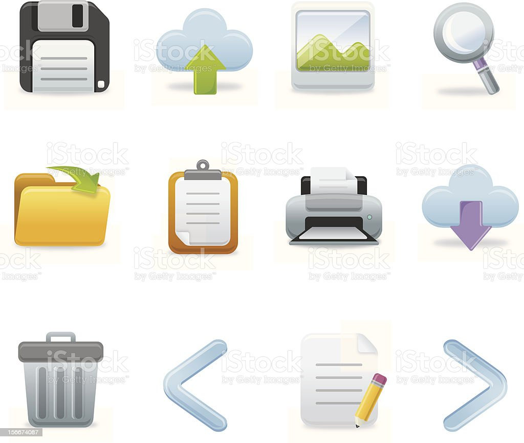 Toolbar Icons | Soft Series royalty-free stock vector art