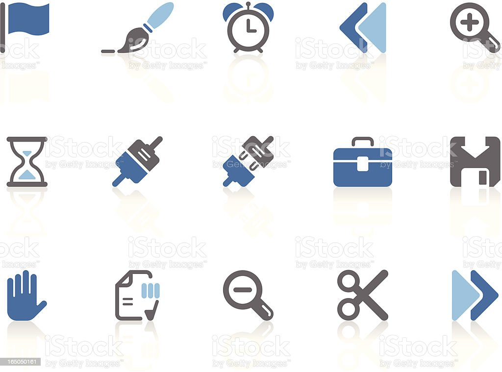 Toolbar & Interface icons | azur series vector art illustration