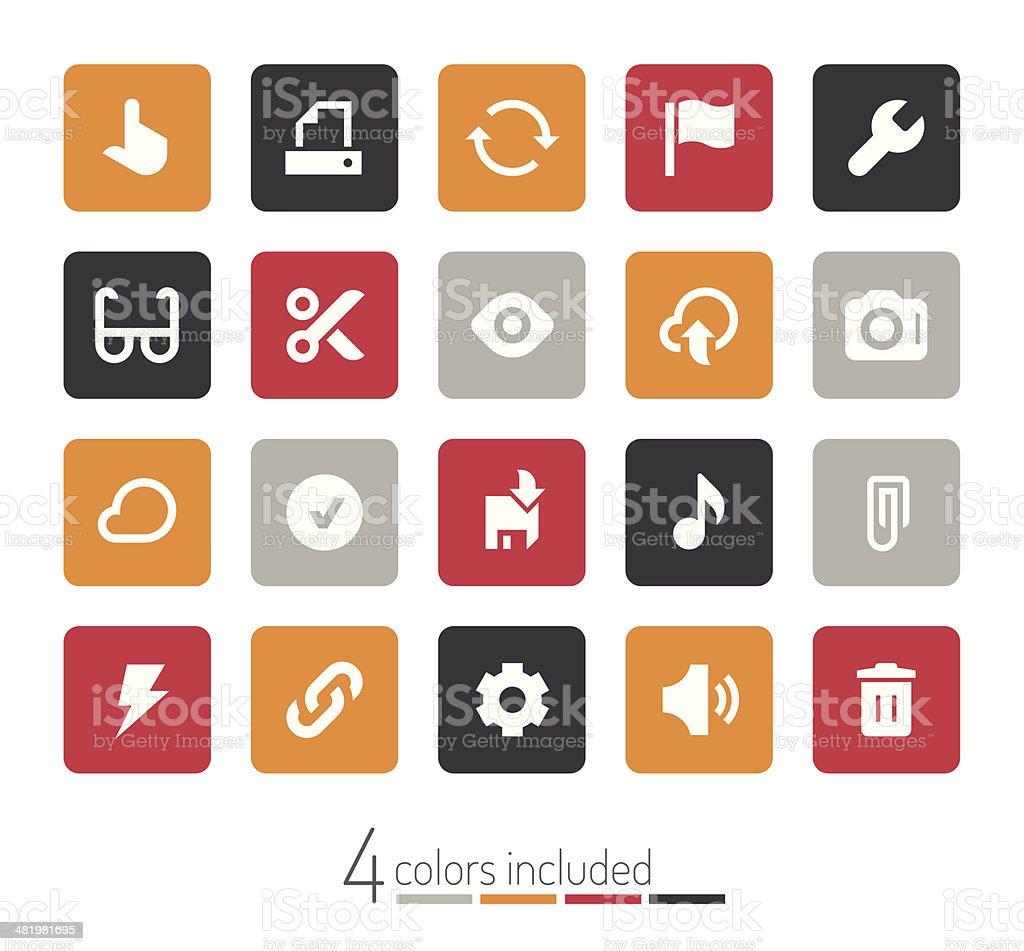 Toolbar & Interface icons   echo series royalty-free stock vector art