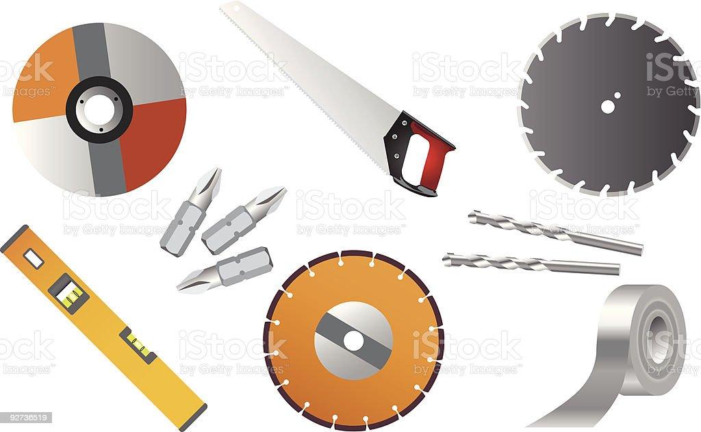 Tools 01 vector art illustration