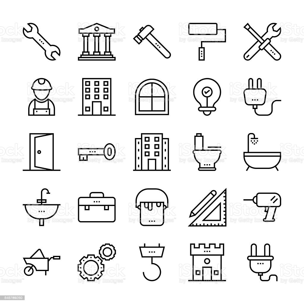 Tools and Construction Vector Icons 2 vector art illustration