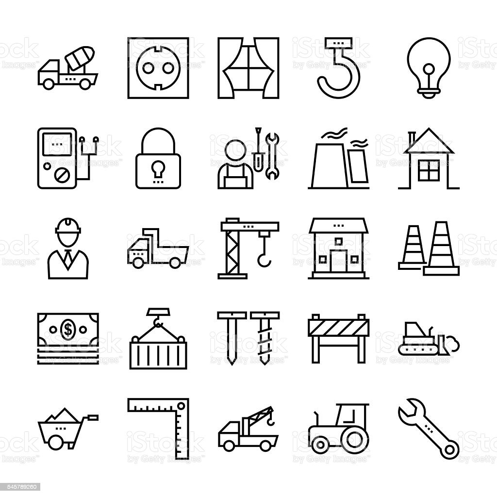 Tools and Construction Vector Icons 3 vector art illustration