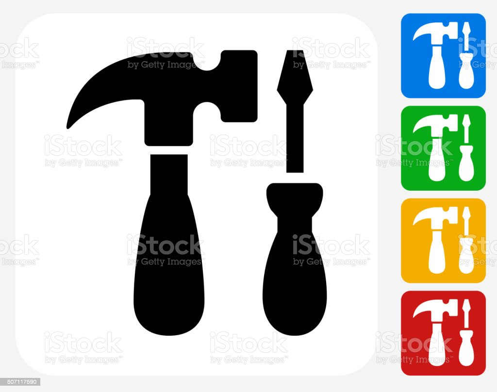 Tools and Hardware Icon Flat Graphic Design vector art illustration