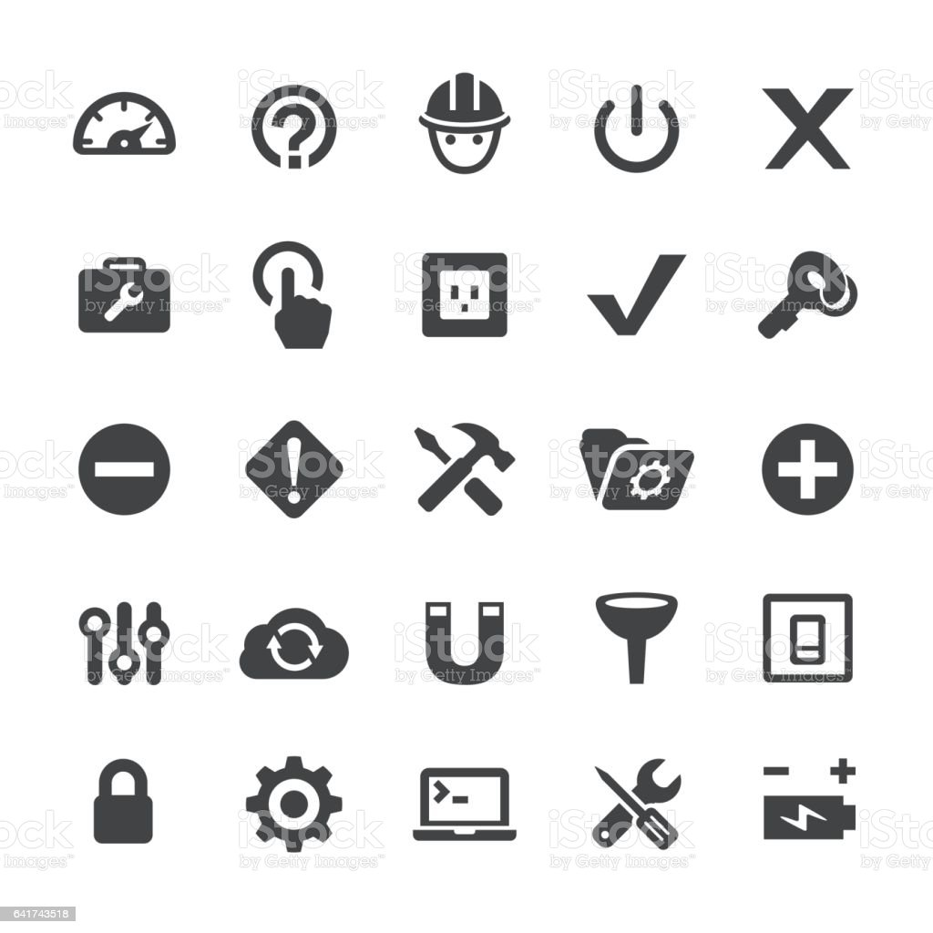 Tools and Settings Icons - Smart Series vector art illustration