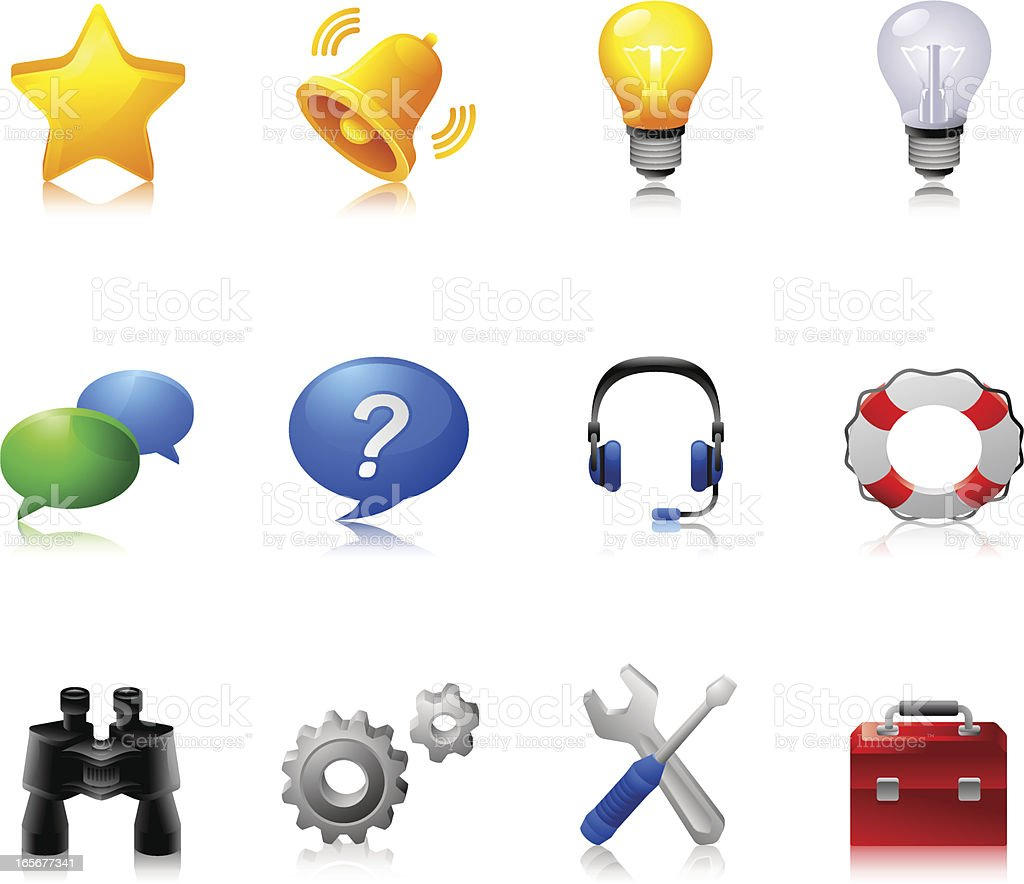 Tools and useful things : Dream  icons royalty-free stock vector art