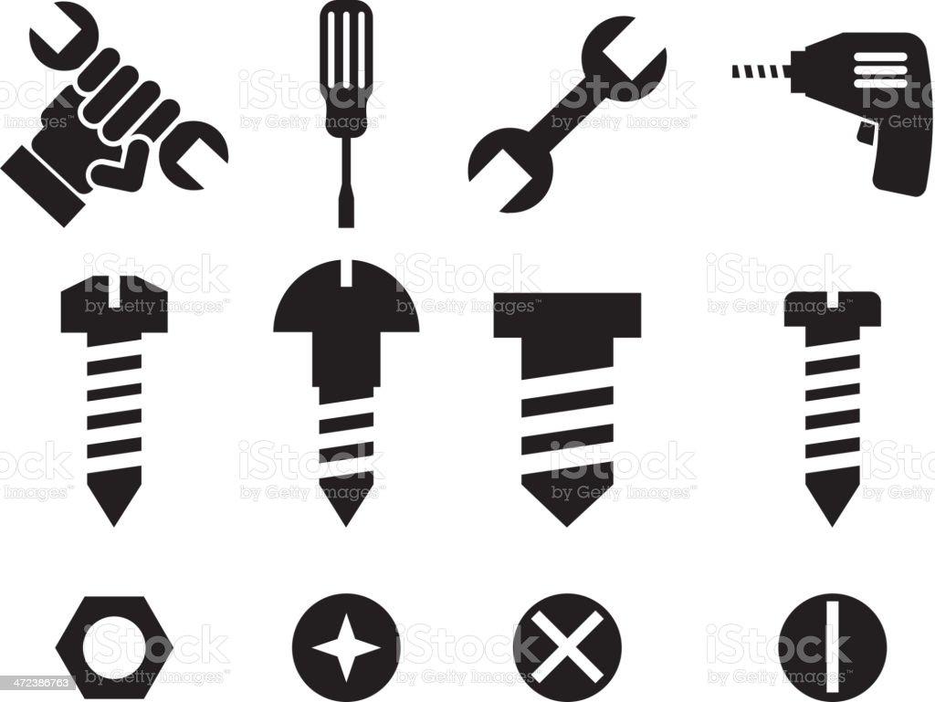 Tools Design vector art illustration