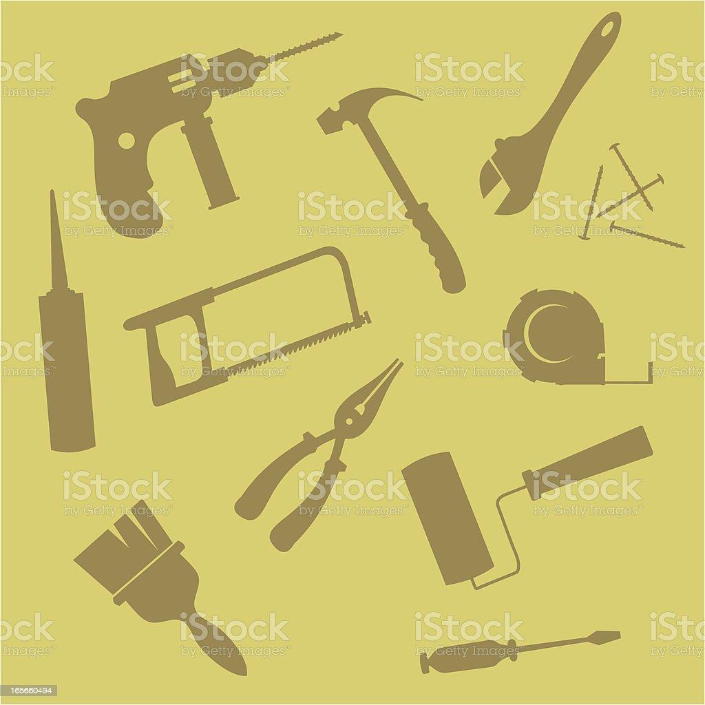 Tools for repair royalty-free stock vector art