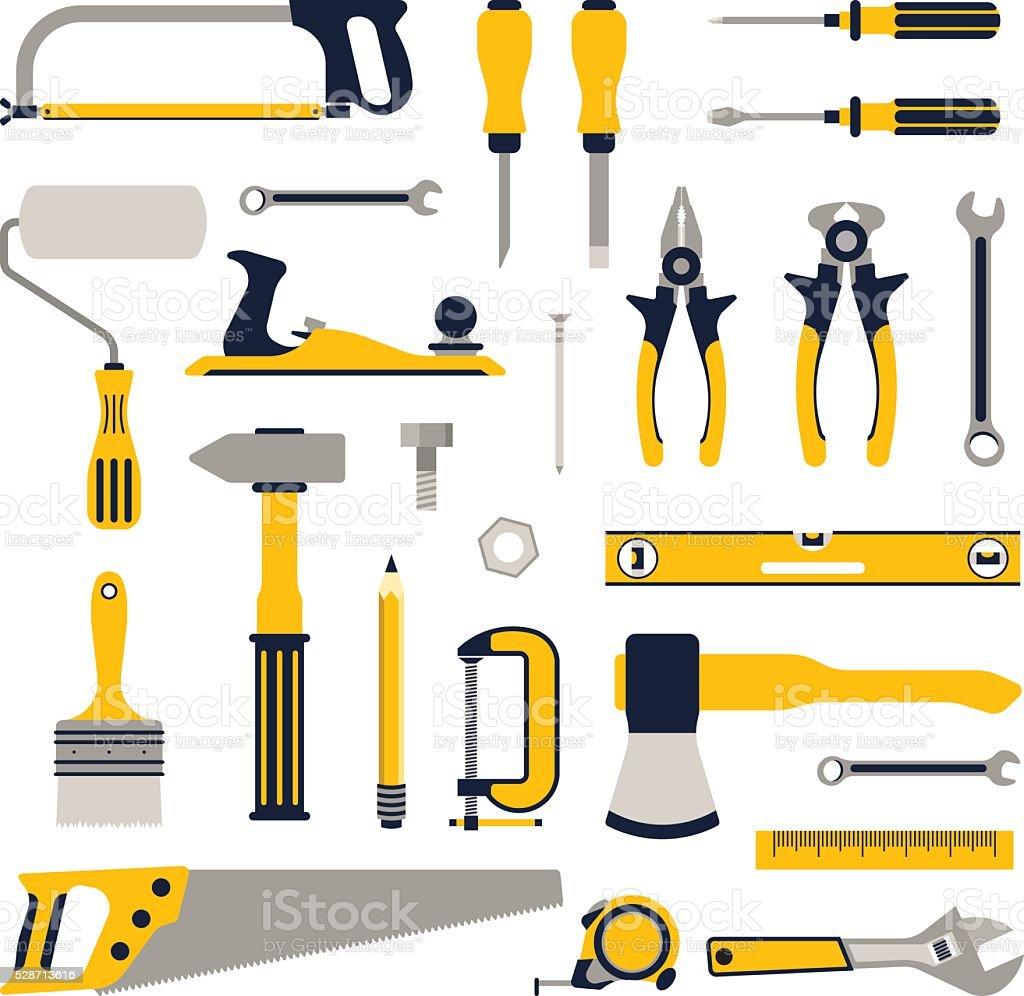 tools for repair vector art illustration