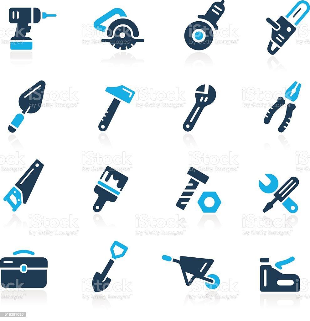 Tools Icons // Azure Series vector art illustration