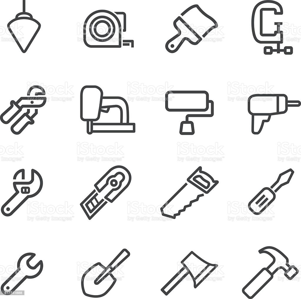 Tools Icons - Line Series vector art illustration