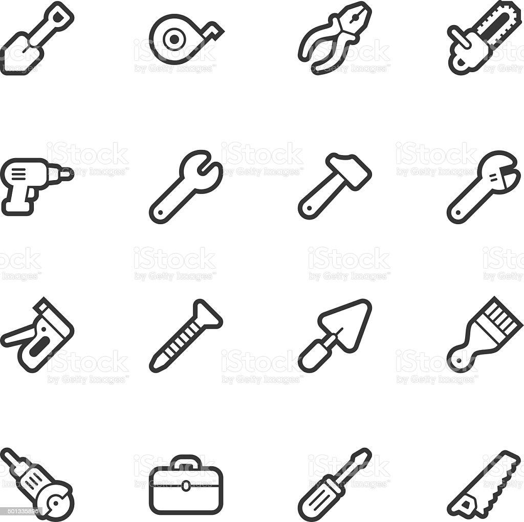 Tools icons - Regular Outline vector art illustration