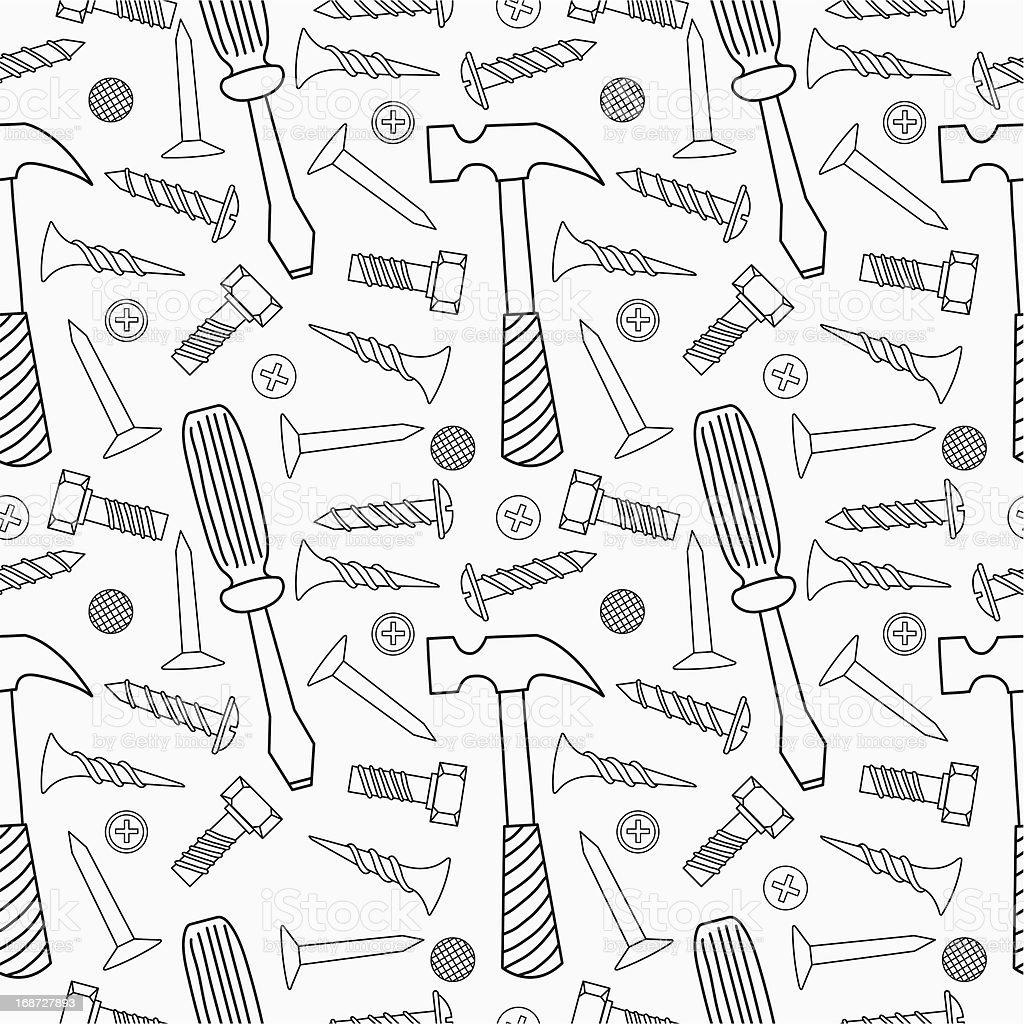 Tools seamless pattern royalty-free stock vector art
