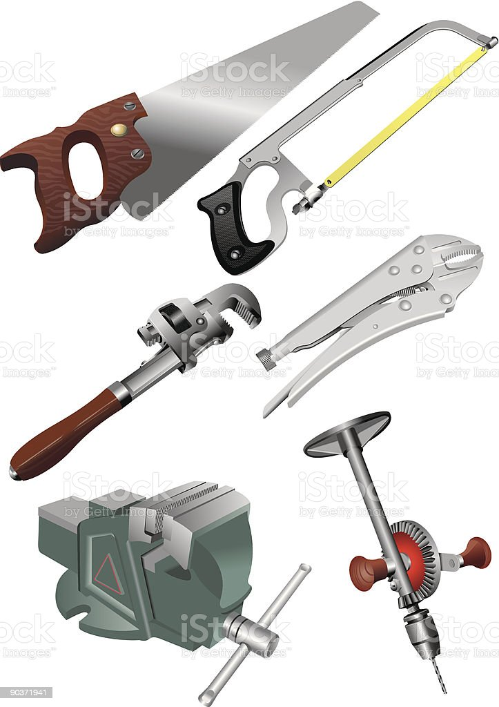 tools set royalty-free stock vector art