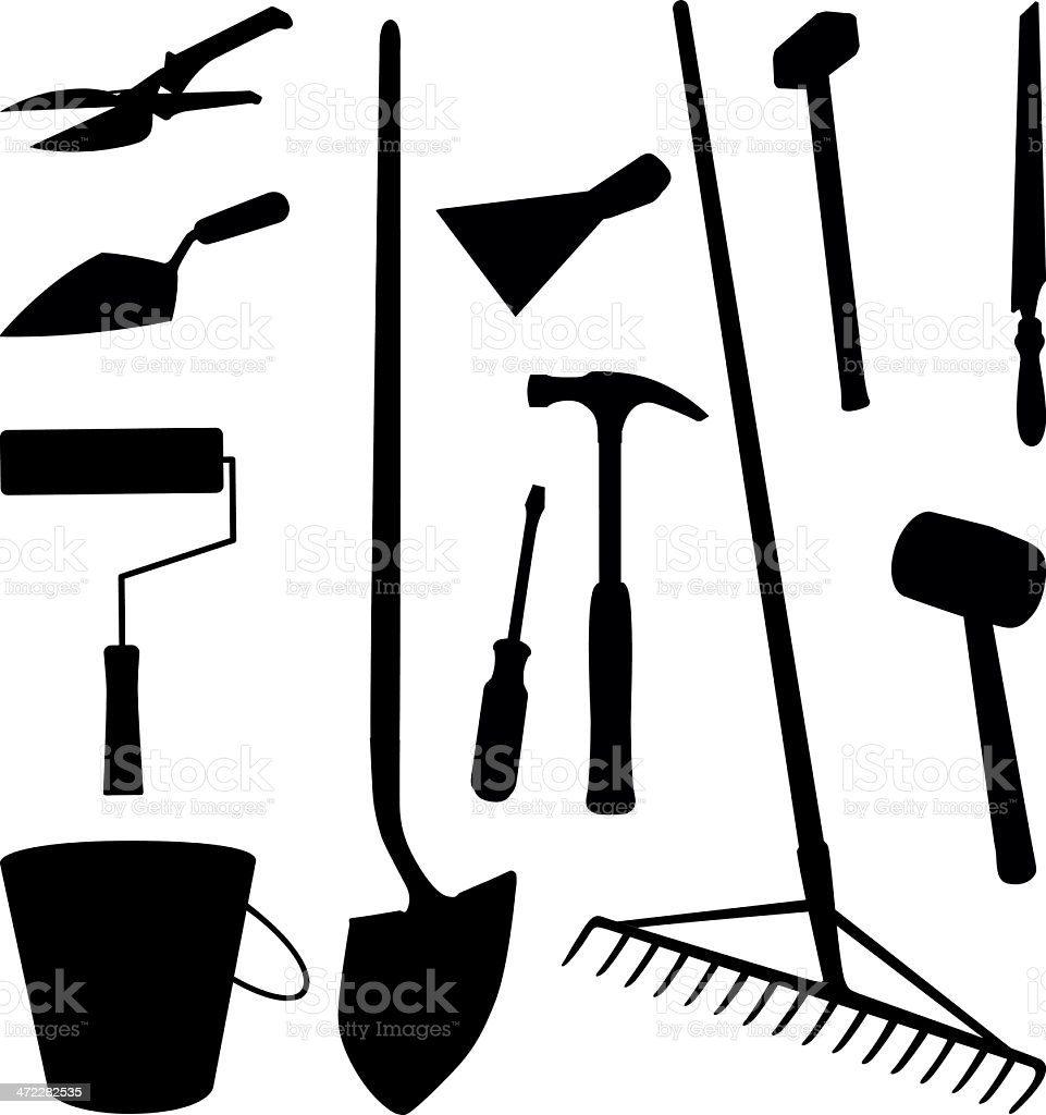 tools silhouette royalty-free stock vector art