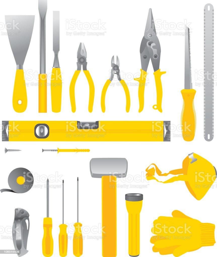 Tools vector art illustration