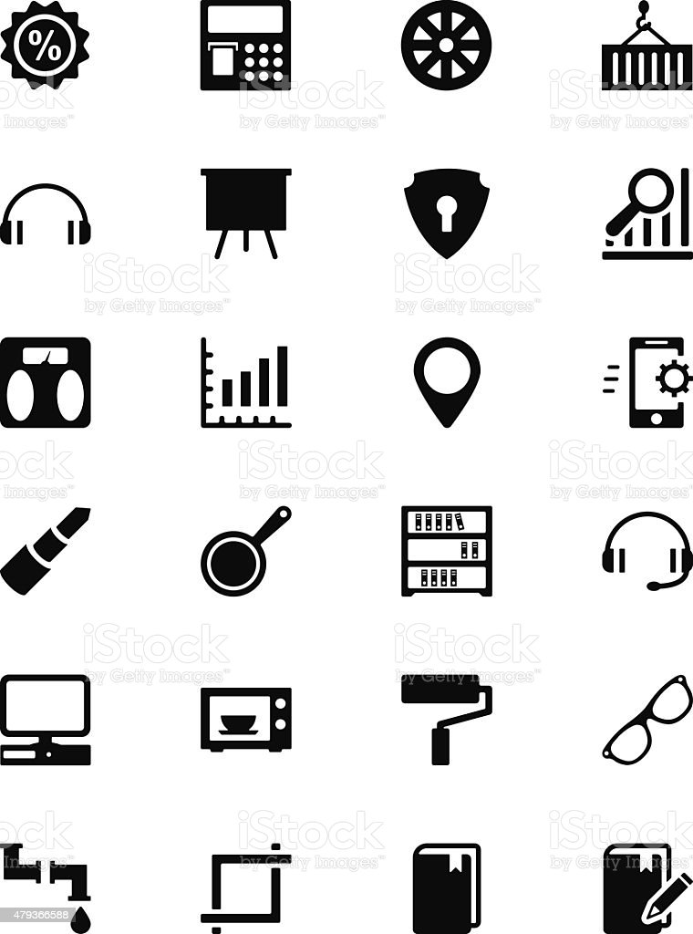 Tools Vector Solid Icons 5 vector art illustration