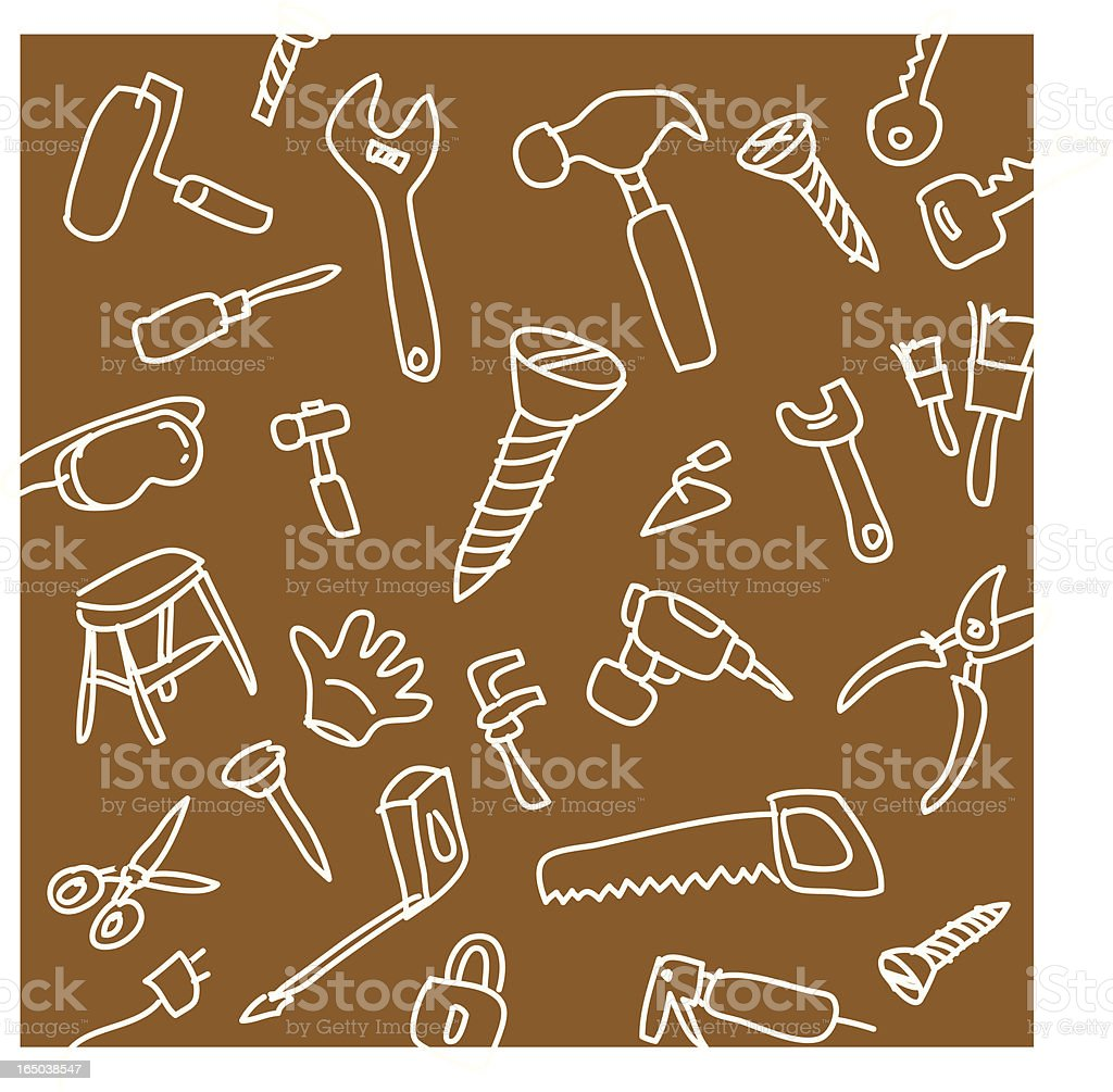 Tools Wallpaper Background vector art illustration