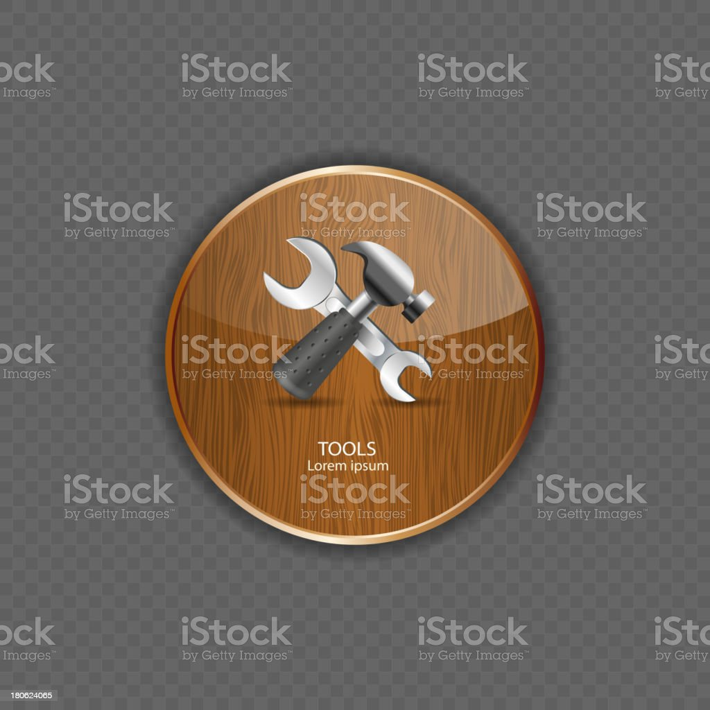 Tools wood application icons vector illustration royalty-free stock vector art