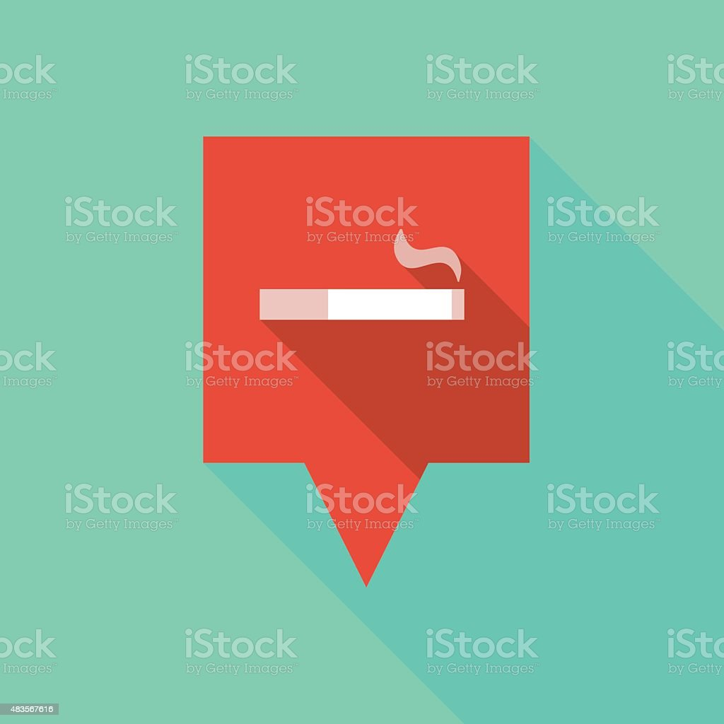 Tooltip icon with a cigarette vector art illustration