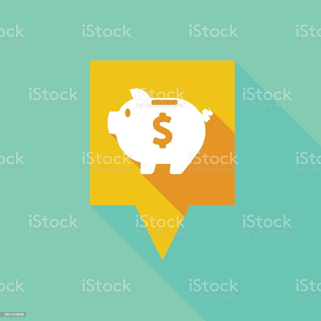 Tooltip icon with a piggy bank vector art illustration