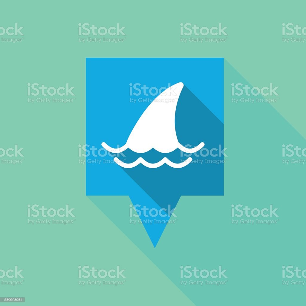 Tooltip icon with a shark fin vector art illustration