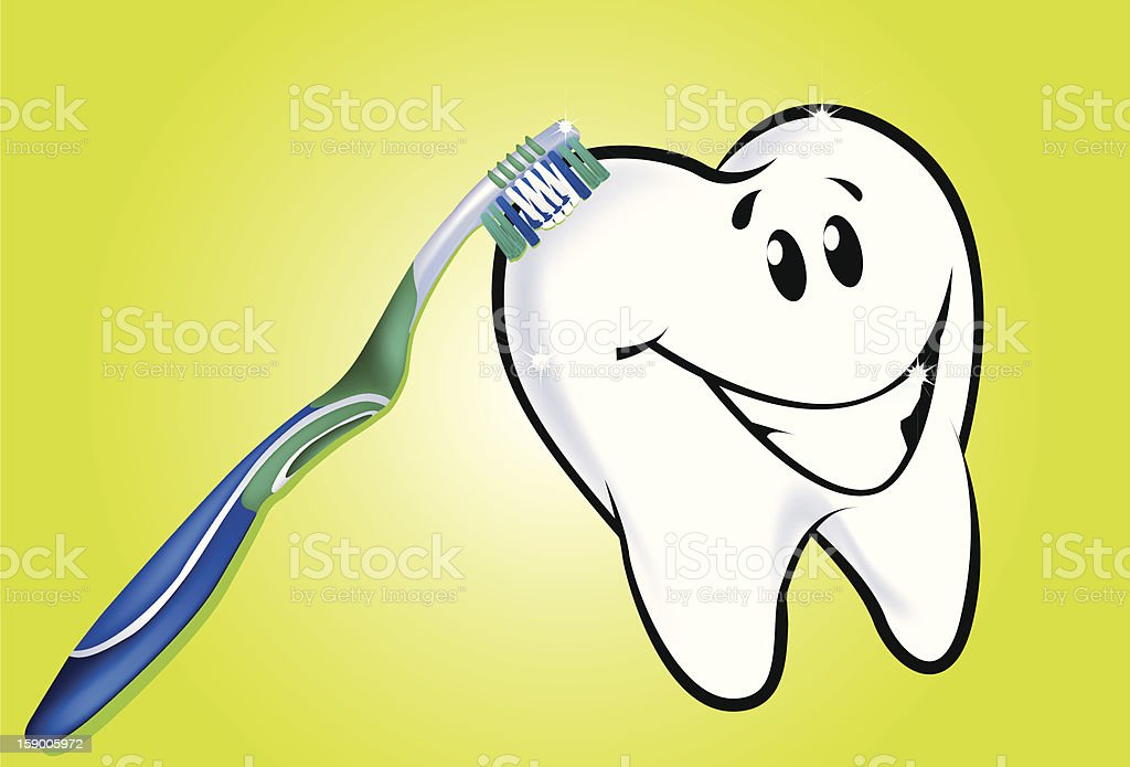 Tooth And  Brush stock photo