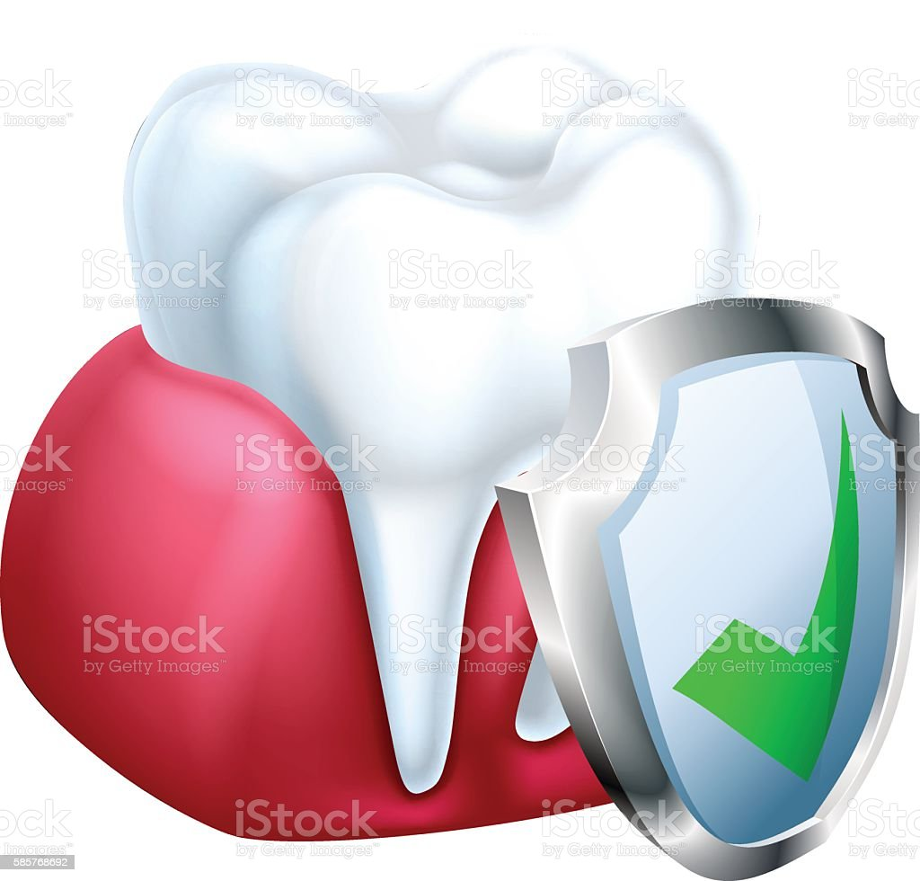 Tooth and Gum Protection Concept vector art illustration