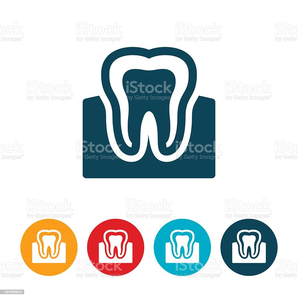 Tooth and Gums vector art illustration